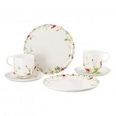 Rosenthal Brillance Fleurs Sauvages Frühstück-Set für 2 Personen 6-tlg.