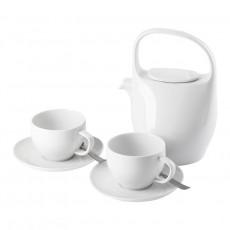 Rosenthal Selection Junto Weiß + Sambonet Flat Vintage Teeset 7-tlg.