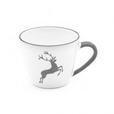 Gmundner Keramik Grauer Hirsch Kaffee-Obertasse Gourmet 0,2 L / h: 7,5 cm