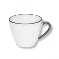 Gmundner Keramik Grauer Rand Espresso-Obertasse Gourmet 0,06 L