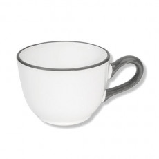 Gmundner Keramik Grauer Rand Kaffee-Obertasse Classic 0,19 L