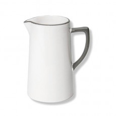 Gmundner Keramik Grauer Rand Wasserkrug 0,7 L