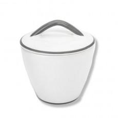 Gmundner Keramik Grauer Rand Zuckerdose Gourmet d: 9 cm