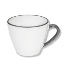 Gmundner Keramik Grauer Rand Kaffee-Obertasse Gourmet 0,2 L