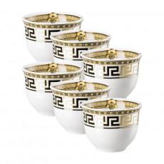 Rosenthal Versace Prestige Gala Becher klein ohne Henkel 0,08 L Set 6-tlg.