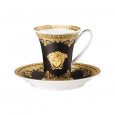 Rosenthal Versace I love Baroque - Nero Espresso-/Mokkatasse 0,09 L mit Untertasse 2-tlg.