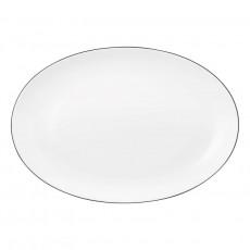 Seltmann Weiden Lido Black Line Platte oval 35 x 24 cm