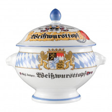 Seltmann Weiden Compact Bayern Löwenkopfterrine m. De. 'Weisswursttopf' 2,1 L