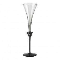 Rosenthal Versace Medusa Lumiere Haze Sektflöte Glas grau 196 ml / h: 30,3 cm