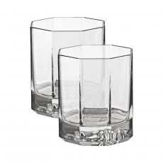 Rosenthal Versace Medusa Lumiere Haze Whiskybecher Glas grau 2-tlg. im Geschenkkarton 170 ml / h: 9 cm