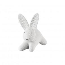 Rosenthal Rabbits - weiß Hase liegend - groß 13,5x9x12 cm