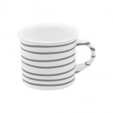 Gmundner Keramik Graugeflammt Kaffeehäferl glatt 0,24 L / h: 7,8 cm