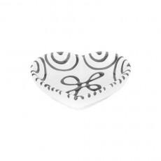 Gmundner Keramik Graugeflammt Herzschale d: 10 cm / h: 2,4 cm