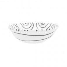 Gmundner Keramik Graugeflammt Müslischale klein d: 14 cm / h: 4,5 cm / 0,27 L