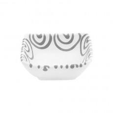 Gmundner Keramik Graugeflammt Schälchen quadratisch 9x9x3,4 cm