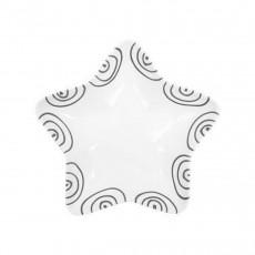 Gmundner Keramik Graugeflammt Sternschale Stella d: 14 cm / h: 3,9 cm
