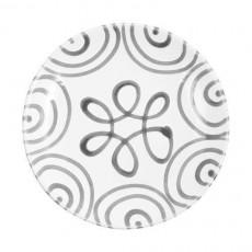 Gmundner Keramik Graugeflammt Dessertteller / Frühstücksteller Cup d: 20 cm / h: 2,6 cm