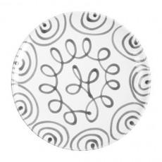 Gmundner Keramik Graugeflammt Speiseteller Cup d: 25 cm / h: 2,8 cm