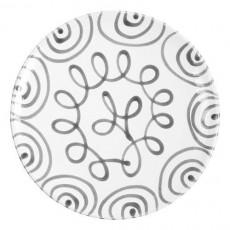 Gmundner Keramik Graugeflammt Platzteller Cup d: 32 cm / h: 2,2 cm