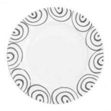 Gmundner Keramik Graugeflammt Speiseteller Gourmet d: 27 cm / h: 2 cm