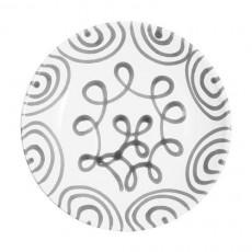 Gmundner Keramik Graugeflammt Suppenteller Cup d: 20 cm / h: 4,4 cm