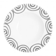 Gmundner Keramik Graugeflammt Suppenteller Gourmet d: 24 cm / h: 4 cm