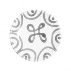 Gmundner Keramik Graugeflammt Kaffee-/Tee-Untertasse Cup d: 15 cm / h: 2,5 cm