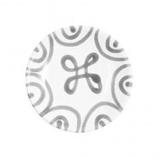 Gmundner Keramik Graugeflammt Mokka-/Espresso-Untertasse glatt d: 11 cm