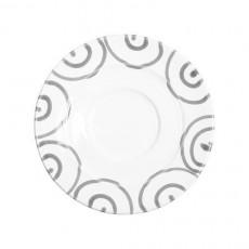 Gmundner Keramik Graugeflammt Mokka-/Espresso-Untertasse Gourmet d: 11 cm