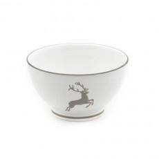 Gmundner Keramik Grauer Hirsch Müslischale groß d: 14 cm / h: 7,8 cm / 0,4
