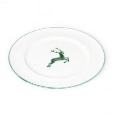 Gmundner Keramik Grüner Hirsch Speiseteller Gourmet d: 27 cm / h: 2 cm
