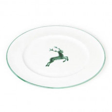 Gmundner Keramik Grüner Hirsch Speiseteller Gourmet d: 29 cm / h: 2,2 cm
