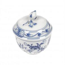 Meissen  'Zwiebelmuster kobaltblau - weißer Rand' Zuckerdose d: 6 cm