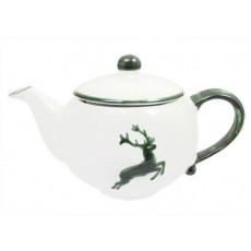 Gmundner Keramik Grüner Hirsch Teekanne glatt 1,5 L / h: 16,5 cm