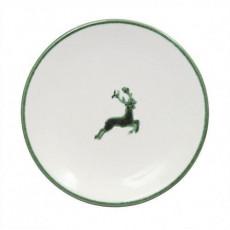 Gmundner Keramik Grüner Hirsch Mokka-/Espresso-Untertasse glatt d: 11 cm