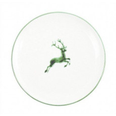 Gmundner Keramik Grüner Hirsch Dessertteller / Frühstücksteller Cup d: 20 cm / h: 2,6 cm