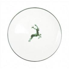 Gmundner Keramik Grüner Hirsch Speiseteller Cup d: 25 cm / h: 2,8 cm