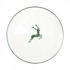 Gmundner Keramik Grüner Hirsch Speiseteller Cup d: 28 cm / h: 2,6 cm