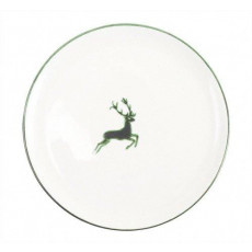 Gmundner Keramik Grüner Hirsch Platzteller Cup d: 32 cm / h: 2,2 cm