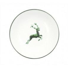 Gmundner Keramik Grüner Hirsch Suppenteller Cup d: 20 cm / h: 4,4 cm