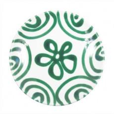 Gmundner Keramik Grüngeflammt Kaffee-/Tee-Untertasse Cup d: 15 cm / h: 2,5 cm