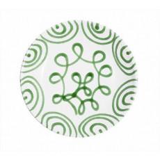 Gmundner Keramik Grüngeflammt Suppenteller Cup d: 20 cm / h: 4,4 cm