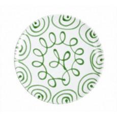 Gmundner Keramik Grüngeflammt Speiseteller Cup d: 25 cm / h: 2,8 cm