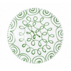 Gmundner Keramik Grüngeflammt Speiseteller Cup d: 28 cm / h: 2,6 cm