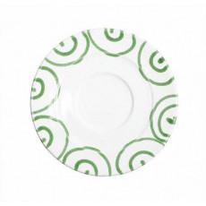 Gmundner Keramik Grüngeflammt Kaffee-Untertasse Gourmet d: 16 cm