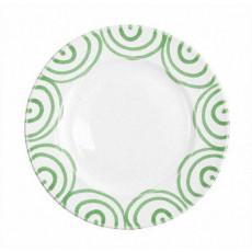 Gmundner Keramik Grüngeflammt Dessertteller / Frühstücksteller Gourmet d: 22 cm / h: 2,2 cm