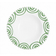 Gmundner Keramik Grüngeflammt Suppenteller Gourmet d: 24 cm / h: 4 cm