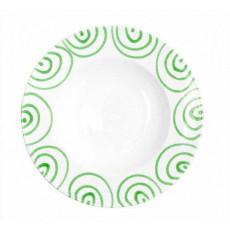 Gmundner Keramik Grüngeflammt Pastateller Gourmet d: 29 cm / h: 4,5 cm