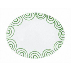 Gmundner Keramik Grüngeflammt Platte oval 28x21x2,3 cm