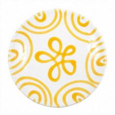 Gmundner Keramik Gelbgeflammt Kaffee-/Tee-Untertasse Cup d: 15 cm / h: 2,5 cm